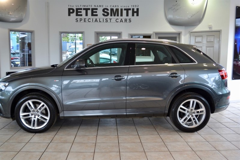 used Audi Q3 2.0 TDI QUATTRO S LINE AUTO ONE OWNER  WITH PANORAMIC ROOF AND TECH PACK 2013/13 in forest-of-dean-gloucestershire