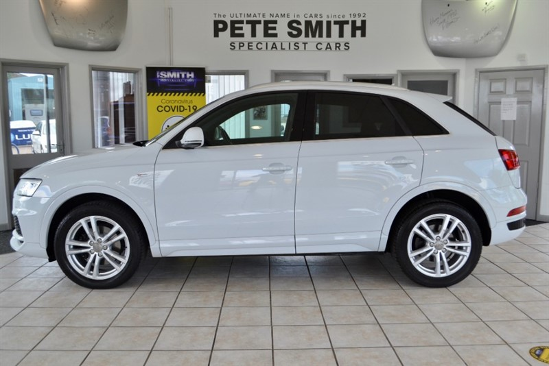 used Audi Q3 2.0 TDI QUATTRO S LINE EDITION S-TRONIC AUTO WITH PADDLE SHIFT OPTION ONLY 18000 MILES 2017/17 in forest-of-dean-gloucestershire