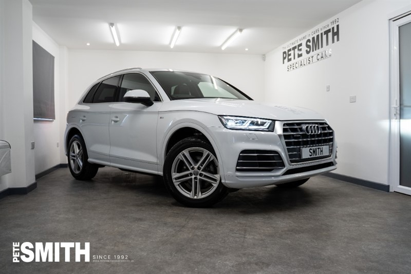 used Audi Q5 2.0 TFSI QUATTRO S LINE S-TRONIC AUTO 5 DOOR TECHNOLOGY PACK VIRTUAL COCKPIT 2018/18 in forest-of-dean-gloucestershire