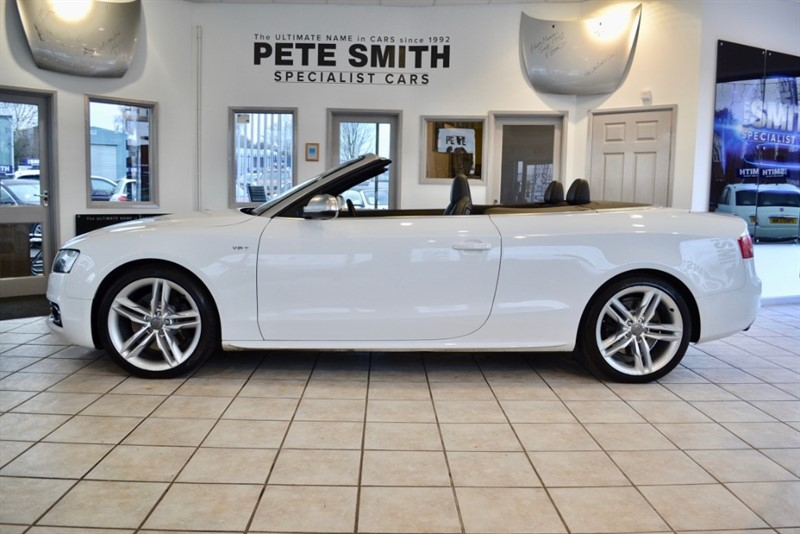 used Audi S5 3.0 TFSI QUATTRO CONVERTIBLE WITH BLACK LEATHER TRIM 2010/60 in forest-of-dean-gloucestershire