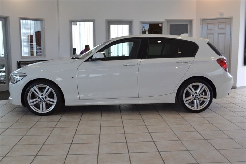 used BMW 120d 2015/64 2.0 M SPORT TWIN TURBO WITH BLACK LEATHER in forest-of-dean-gloucestershire