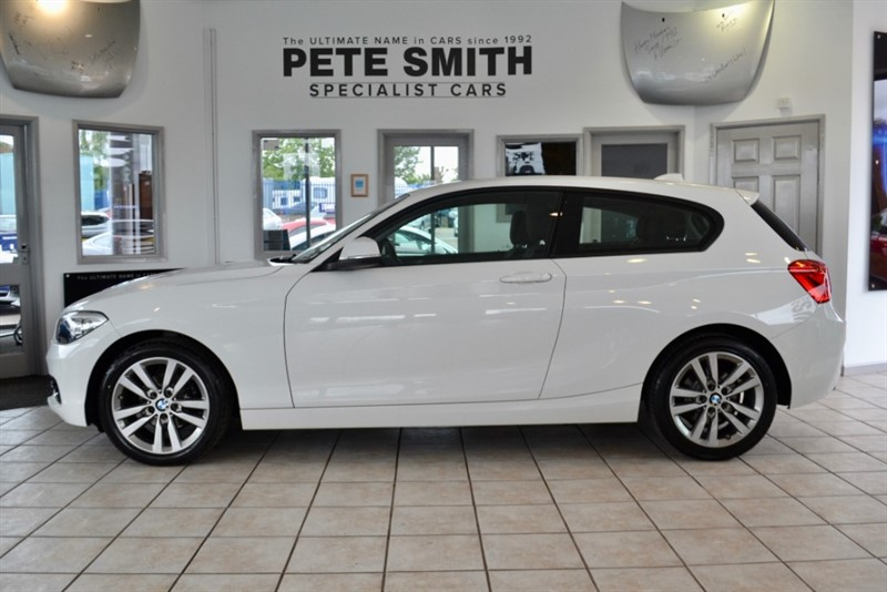 used BMW 116d SPORT 3 DOOR ONE OWNER WITH NAVIGATION AND LEATHER ONLY 29000 MILES in forest-of-dean-gloucestershire