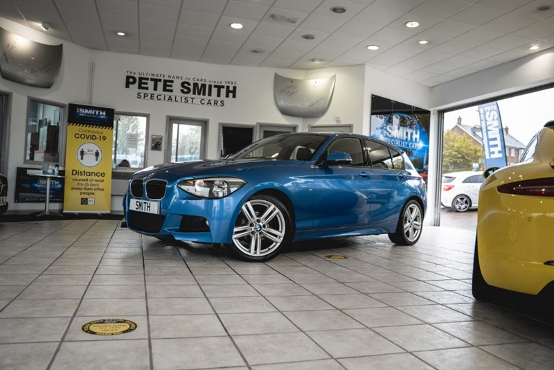 used BMW 118d 2.0 M SPORT 5 DOOR ESTORIL BLUE FULL SERVICE HISTORY JUST £30 ROAD TAX 2014/14 in forest-of-dean-gloucestershire