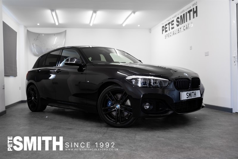used BMW 118i 1.5 M SPORT SHADOW EDITION AUTO 5 DOOR JUST 15000 MILES BLACK DAKOTA LEATHER 2019/68 in forest-of-dean-gloucestershire