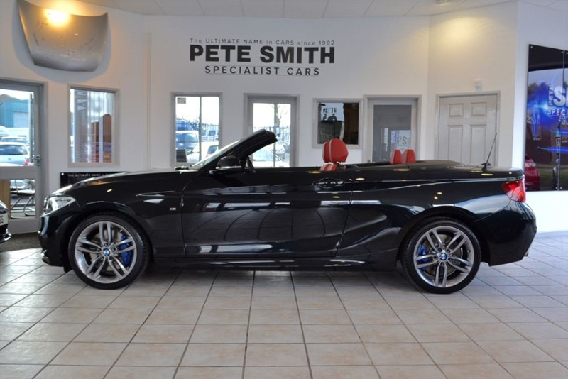 used BMW 220i 2.0 M SPORT 2015/15 CONVERTIBLE WITH CORAL RED LEATHER TRIM & NAVIGATION in forest-of-dean-gloucestershire