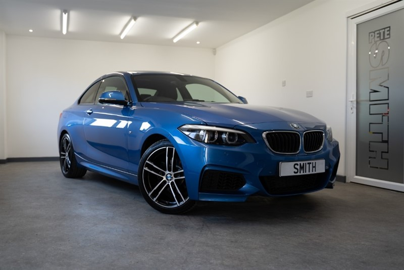 used BMW 218i M SPORT AUTO COUPE ONE OWNER JUST 14000 MILES BLACK LEATHER NAVIGATION 2018/18 in forest-of-dean-gloucestershire