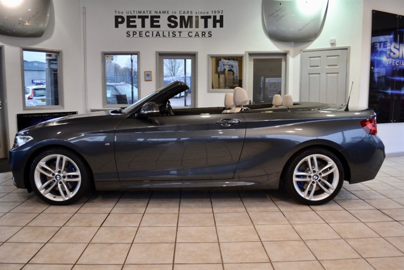 used BMW 220i M SPORT AUTO CONVERTIBLE BMW SERVICE HISTORY ONLY 14000 LEATHER AND NAVIGATION MILES 2016/16 in forest-of-dean-gloucestershire