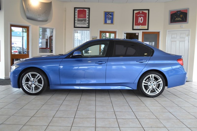 used BMW 318d M SPORT BLACK LEATHER & ONLY £30 POUNDS ROAD TAX in forest-of-dean-gloucestershire