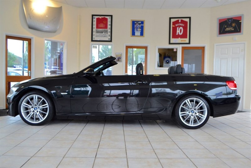used BMW 335i 3.0 M SPORT CONVERTIBLE WITH BLACK LEATHER TRIM in forest-of-dean-gloucestershire