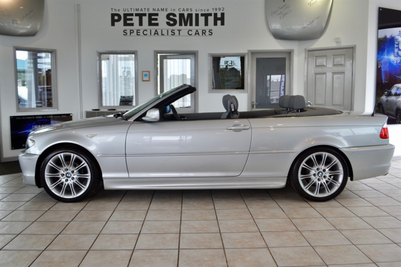 used BMW 318ci 2.0 SPORT CONVERTIBLE WITH GREY LEATHER AND BLUE HOOD  2005/55 in forest-of-dean-gloucestershire