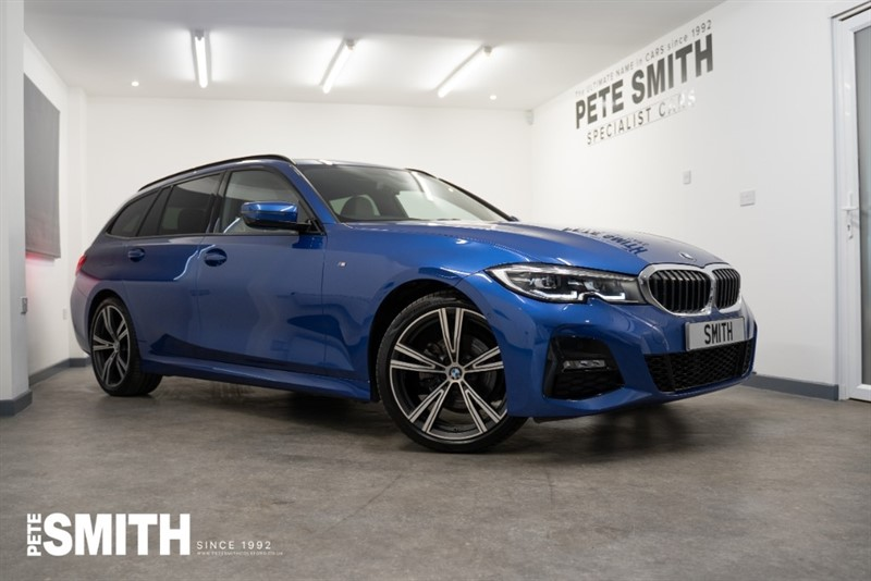 used BMW 320d 320D XDRIVE M SPORT AUTO TOURING 8100 MILES PORTIMAO BLUE OYSTER LEATHER TECHNOLOGY PACK 2020/20 in forest-of-dean-gloucestershire