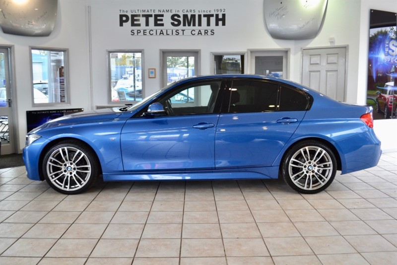 used BMW 320d 2.0 M SPORT AUTO 4 DOOR ESTORIL BLUE WITH A FULL BMW SERVICE HISTORY  2014/64 in forest-of-dean-gloucestershire