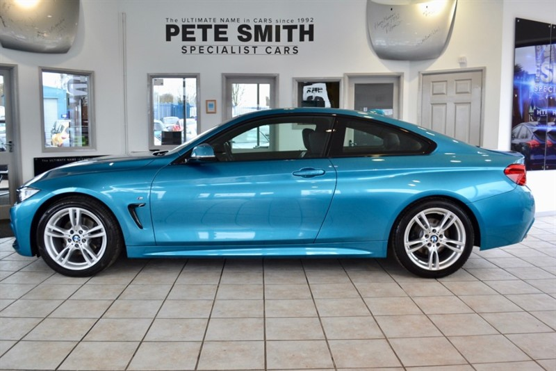 used BMW 420d 2.0 M SPORT AUTO COUPE 2017/17  ONE OWNER IN SNAPPERS ROCKS METALLIC WITH LARGE MEDIA SCREEN in forest-of-dean-gloucestershire