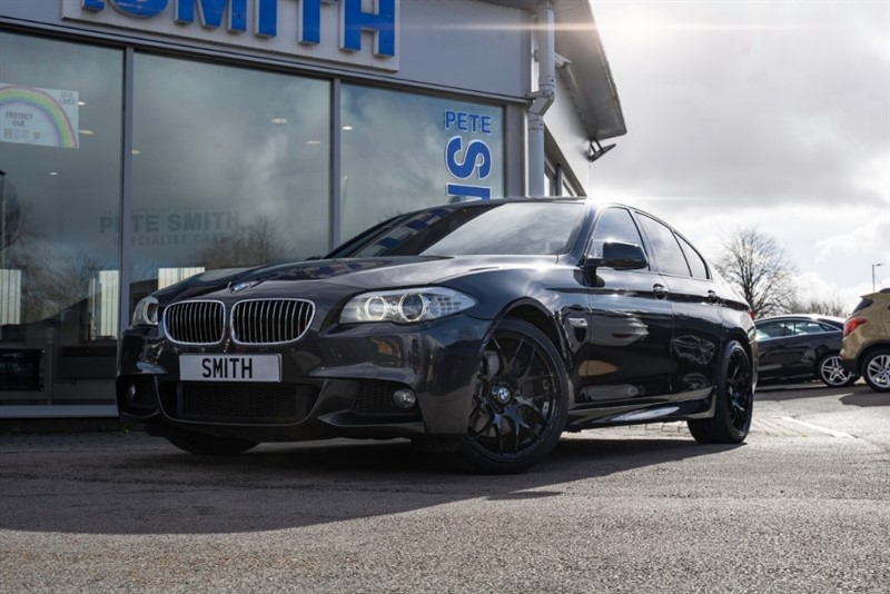 used BMW 535d 3.0 M SPORT AUTO 4 DOOR BLACK DAKOTA LEATHER AND MEDIA PACKAGE FULL SERVICE HISTORY 2013/13 in forest-of-dean-gloucestershire