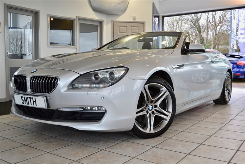 used BMW 640i 3.0 SE AUTO CONVERTIBLE WITH WIDE SCREEN NAVIGATION AND ONLY 24000 MILES 2011/61 in forest-of-dean-gloucestershire