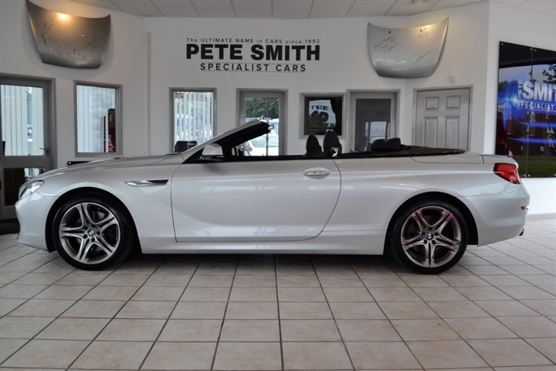 used BMW 640i SE CONVERTIBLE WITH WIDE SCREEN NAVIGATION AND ONLY 24000 MILES 2011/61 in forest-of-dean-gloucestershire