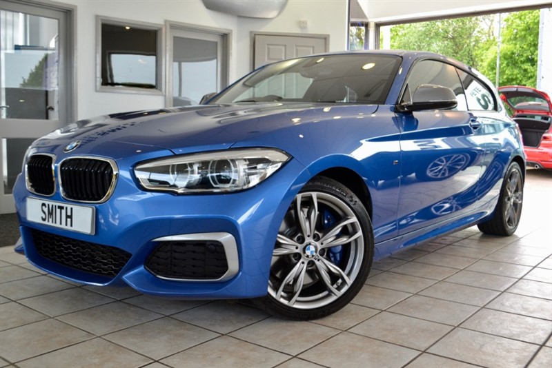 used BMW M140i 3.0 AUTO 3 DOOR 1 OWNER IN ESTORIL BLUE WITH ONLY 14000 MILES BMW SERVICE HISTORY 2017/17 335 BHP in forest-of-dean-gloucestershire