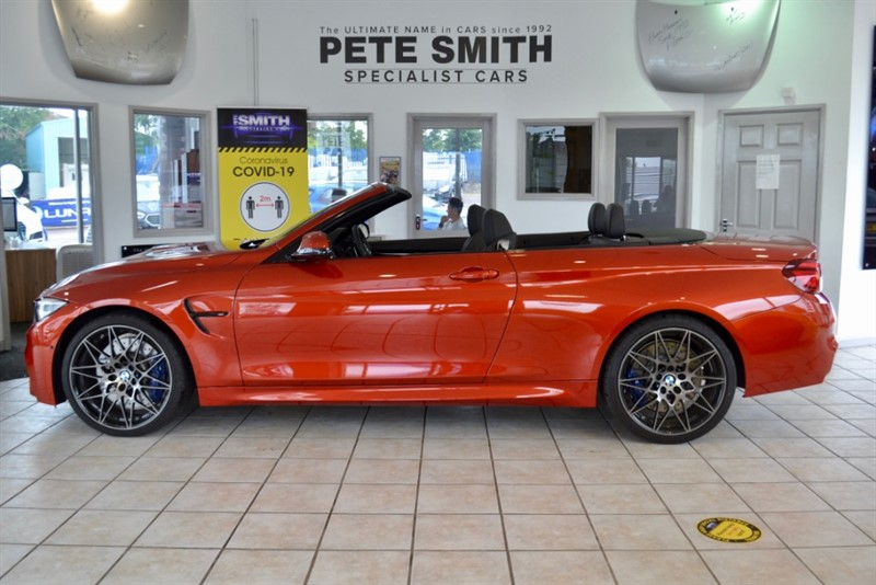 used BMW M4 3.0 Bi TURBO GPF DCT COMPETITION PACK CONVERTIBLE JUST 587 MILES 2020/69 in forest-of-dean-gloucestershire