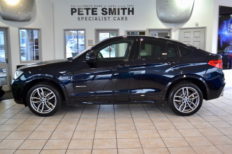 used BMW X4  XDRIVE 20D M SPORT AUTO CARBON BLACK  MEDIA PACKAGE HEAD UP DISPLAY BMW SERVICE HISTORY 2016/16 in forest-of-dean-gloucestershire