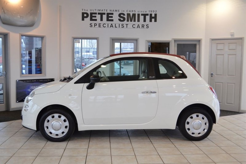 used Fiat 500 1.2 POP CONVERTIBLE 2010/60 COMPLETE WITH FULL SERVICE HISTORY in forest-of-dean-gloucestershire