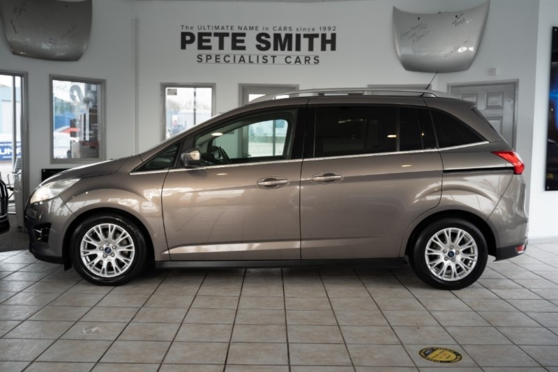 used Ford C-Max 1.6 GRAND TITANIUM TDCI 7 SEATS JUST 49000 FULL LEATHER ELECTRIC GLASS ROOF 2012/12 in forest-of-dean-gloucestershire