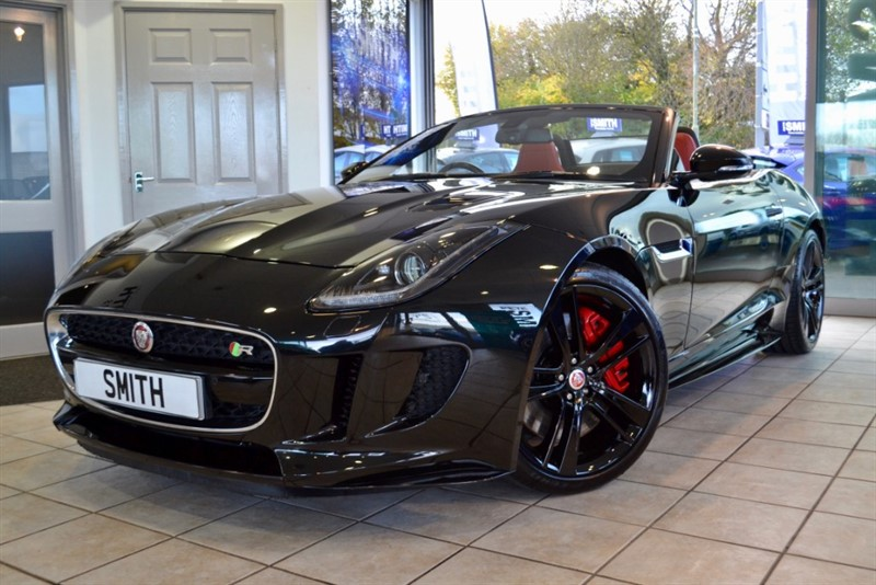 used Jaguar F-Type 5.0 V8 R AWD CONVERTIBLE 44000 MILES JAGUAR SERVICE HISTORY HIGH GLOSS ALLOYS  RED LEATHER 2015/65 in forest-of-dean-gloucestershire