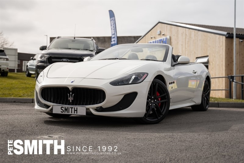 used Maserati Granturismo 4.7 GRANCABRIO SPORT CONVERTIBLE WITH JUST 21990 MILES JUST ARRIVED AND WHAT A CAR 2016/66 in forest-of-dean-gloucestershire