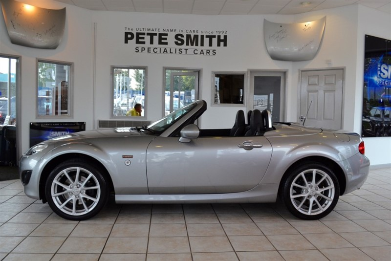used Mazda MX-5 2.0 I ROADSTER MIYAKO FOLDING HARDTOP WITH BLACK LEATHER TRIM 2010/60 in forest-of-dean-gloucestershire