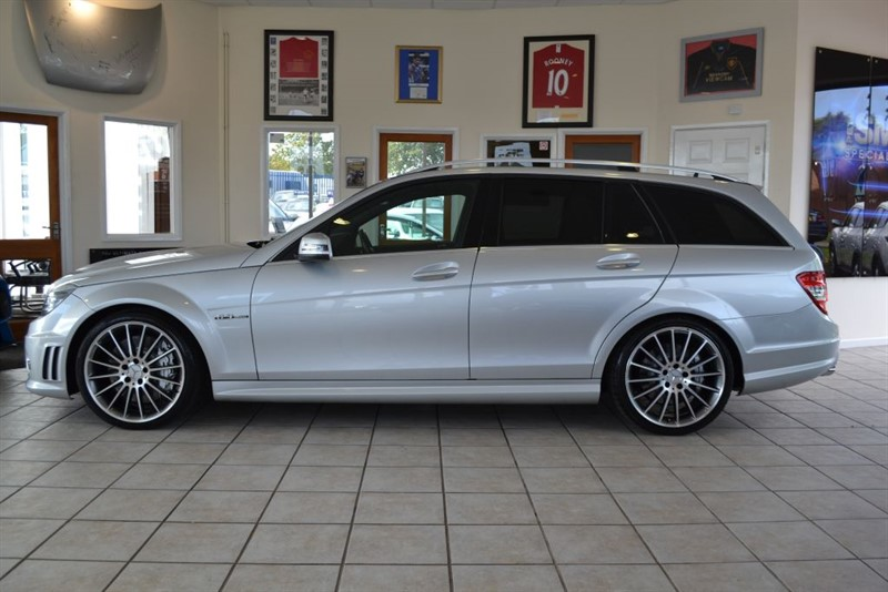 used Mercedes C63 AMG 6.2 V8 ESTATE WITH FULL BLACK LEATHER TRIM in forest-of-dean-gloucestershire