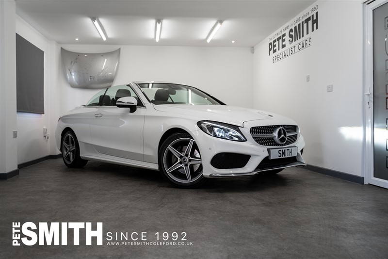 used Mercedes C200 2.0 AMG LINE AUTO CONVERTIBLE ONE OWNER FROM NEW JUST ARRIVED 2017/17 in forest-of-dean-gloucestershire