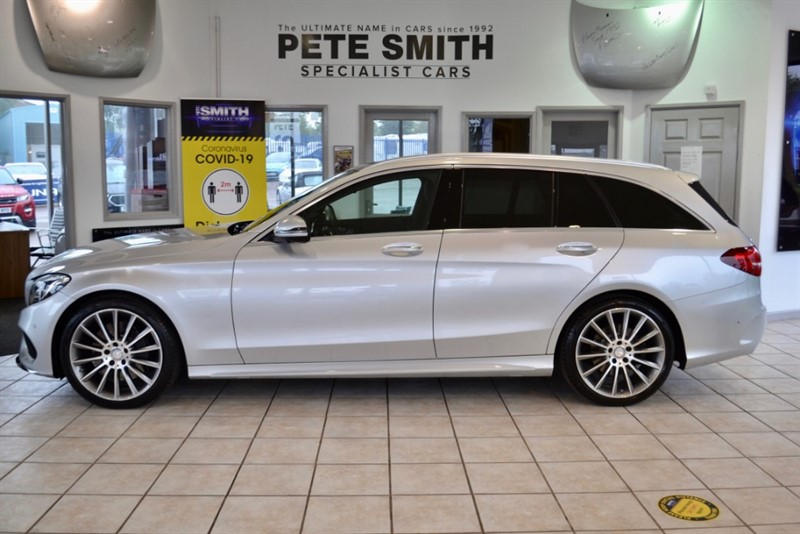 used Mercedes C250 2.2 D AMG LINE PREMIUM PLUS 7G-TRONIC + ESTATE PANORAMIC ROOF BIG SPEC 2015/15 in forest-of-dean-gloucestershire
