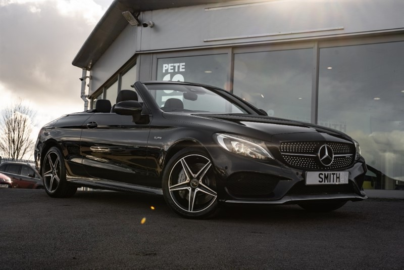 used Mercedes C43 AMG 3.0 4MATIC CONVERTIBLE FULL MERCEDES SERVICE HISTORY 2016/66 in forest-of-dean-gloucestershire