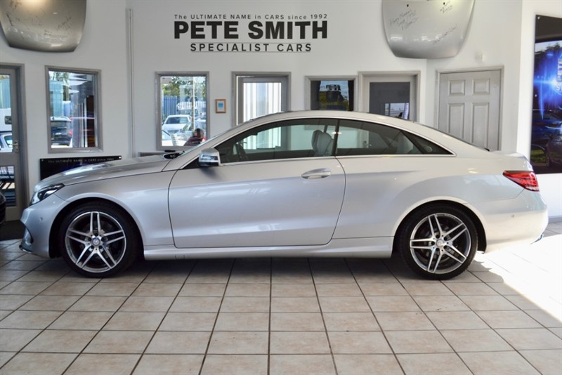 used Mercedes E250 2.2 CDI AMG SPORT COUPE AUTO WITH PANORAMIC ROOF AND A FULL MERCEDES SERVICE HISTORY 2014/14 in forest-of-dean-gloucestershire