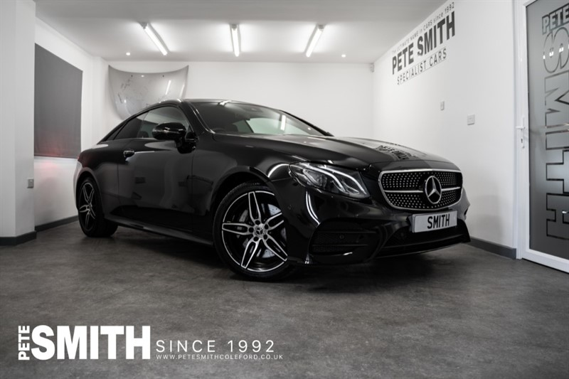 used Mercedes E400 V6 4MATIC AMG LINE PREMIUM G-TRONIC 4 MATIC COUPE JUST 9900 MILES PANORAMIC ROOF *NIGHT PACK 2018/18 in forest-of-dean-gloucestershire