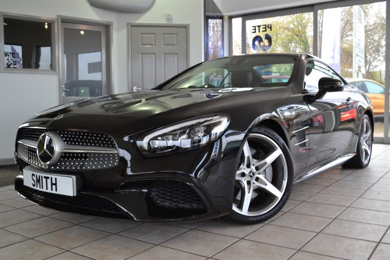 used Mercedes SL 400 AMG LINE AUTO ONE OWNER JUST 7000 MILES AMAZING SPECIFICATION INC PANORAMIC ROOF 2019/19 in forest-of-dean-gloucestershire