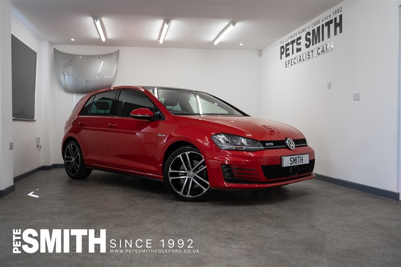 used VW Golf 2.0 GTD 5 DOOR 182BHP TORNADO RED WITH ELECTRIC SUNROOF 2014/64 in forest-of-dean-gloucestershire