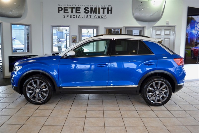 used VW T-Roc 1.0 DESIGN TSI 5 DOOR ONE OWNER ONLY 5000 MILES JUST SERVICED 18 INCH ARLO ALLOYS 2018/18 in forest-of-dean-gloucestershire