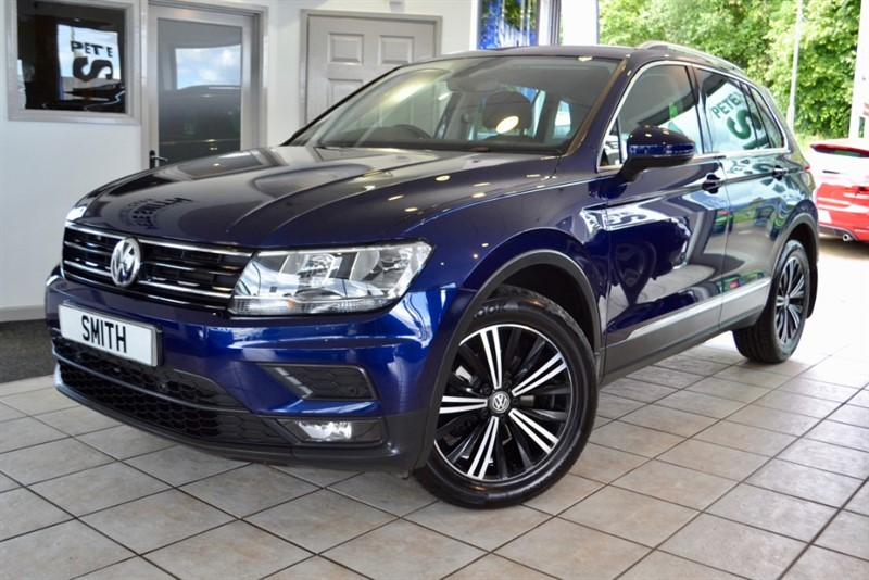 used VW Tiguan 2.0 TDi SE NAV 1 OWNER WITH ONLY 10000 MILES AND NAVIGATION IN ATLANTIC BLUE 2018/18 in forest-of-dean-gloucestershire