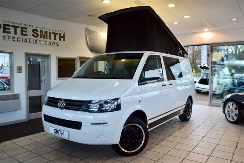 used VW Transporter T28 TDI STARTLINE CAMPERVAN POP TOP 2015/15 4 BERTH in forest-of-dean-gloucestershire