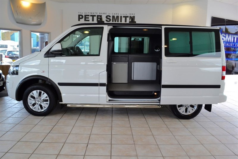 used VW Transporter 2.0 T30 TDI KOMBI HIGHLINE CAMPER VAN 2014/14 WITH NAV AND CRUISE in forest-of-dean-gloucestershire