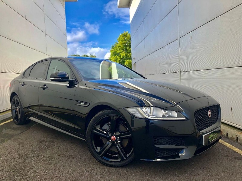 used Jaguar XF D R-SPORT (BLACK EDTION AND BLK PACK,2018 MODEL1 OWNER) in cardiff-glamorgan