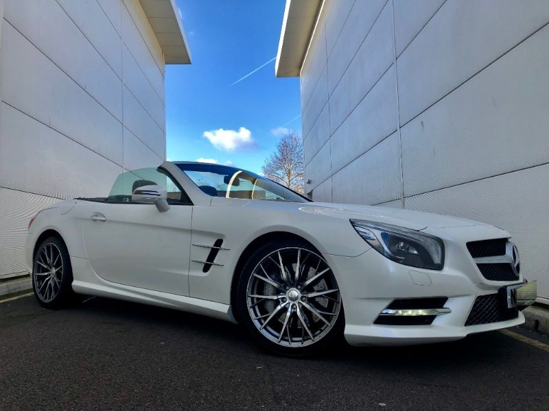 used Mercedes SL SL350 (AMG SPORTS PACKAGE,PANROOF,A/SCARF,CAMERA,LOW MILES)  in cardiff-glamorgan