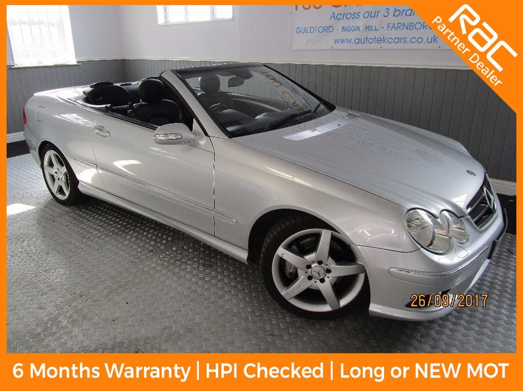 used Mercedes CLK200 CLK 200K COMPRESSOR SPORT AUTO in surrey