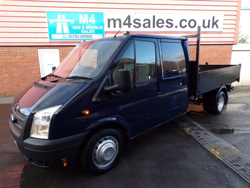 used Ford Transit 350 CREW CAB TIPPER RWD 2.2 in wiltshire
