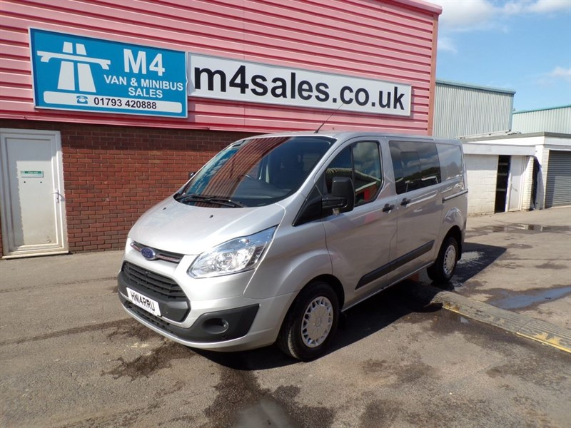 used Ford Transit Custom 290 TREND L/R CREWVAN 125PS *NO VAT* in wiltshire