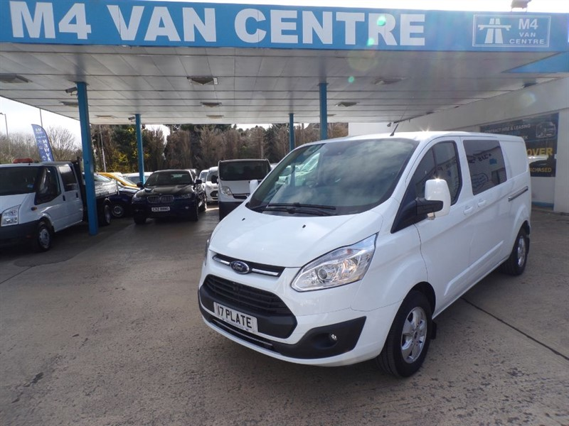 used Ford Transit Custom NEWLIMITED CREWVAN130PS  310 L1/L2 LWB/SWB H1 FROM £21500 DEPENDENT ON SPEC in wiltshire