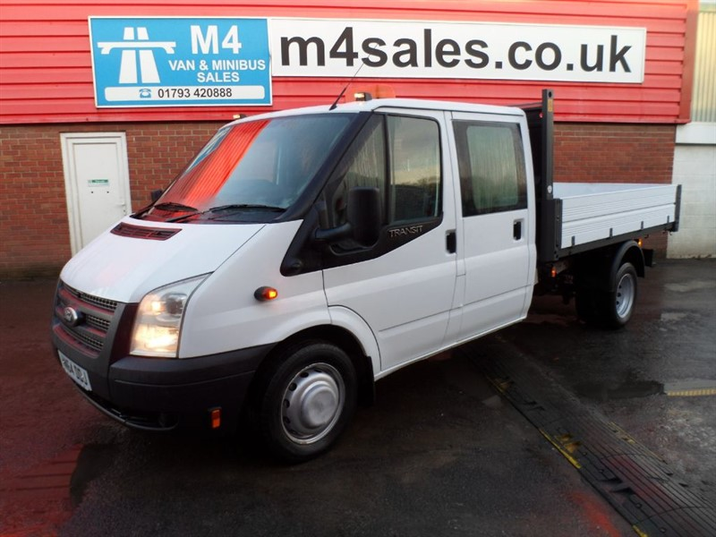 used Ford Transit 350 CREWCAB 1 STOP TIPPER 125PS in wiltshire