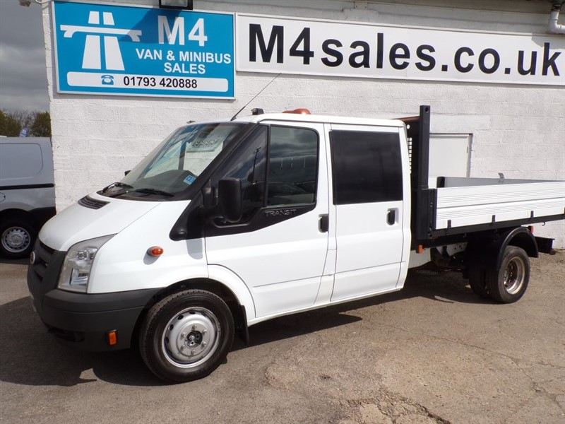 used Ford Transit 350 C/CAB 100PS 1 STOP TIPPER in wiltshire