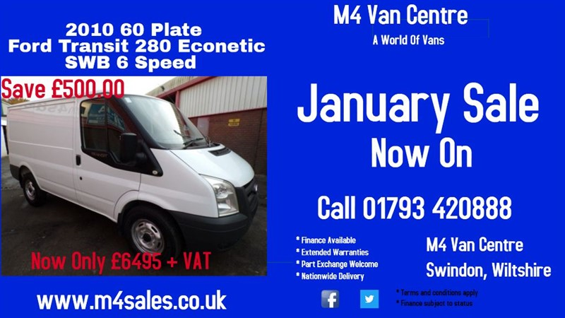 used Ford Transit 280 ECONETIC LOW ROOF SWB  in wiltshire