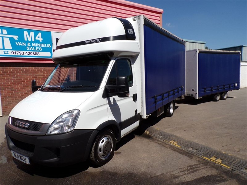 used Iveco Daily 35C17 XLWB CURTAINSIDER WITH CURTAIN TRAILOR 170PS in wiltshire